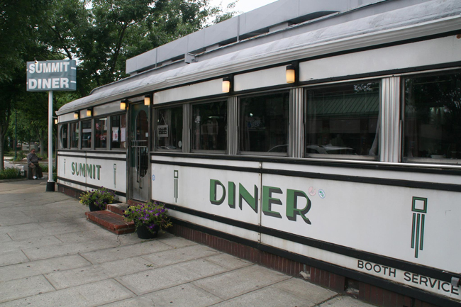 The Summit Diner in Summit, New Jersey, is a prototypical Northeast U.S. rail car-style diner, built by the O'Mahony Company in 1938.