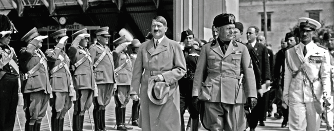 Hitler and Mussolini. Visit to Italy.