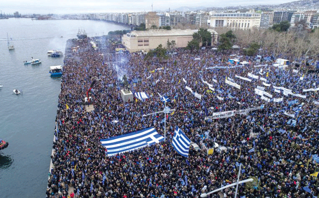 "Thousands protest against the name ""Macedonia"""