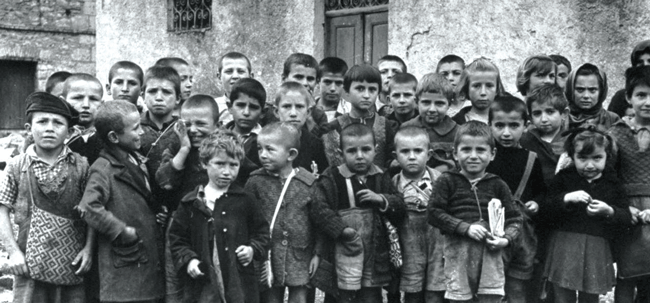 Children in Greece during WWII.