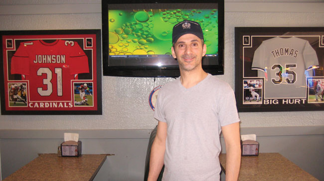 Jim Antonopoulos, owner of Run-A-Way restaurant located at 120 Butterfield Rd in North Aurora (Chicago restaurants June 2018).