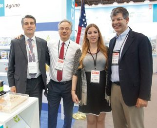 Summer Fancy Food Show 2018: Agrino SA, Athens, Greece: Marc Schmettau, Agis Pistiolas Marketing & Exports Director, Elli-Eleni Konstantinidou (PEMETE), Constantinos Constantinidis (Source Atlantique).
