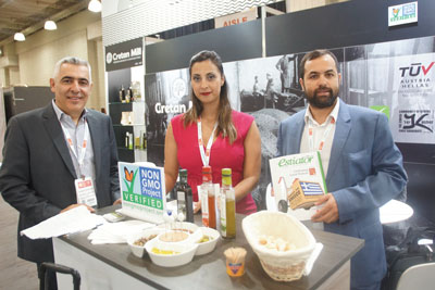 Summer Fancy Food Show 2018: Cretan Mill, Heraklion, Crete: Georgios Kokkinakis, Maria Foule and Michail Almpantakis President.