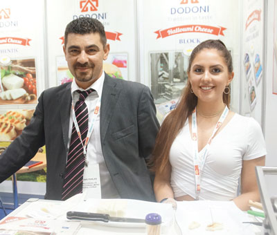 Summer Fancy Food Show 2018: Dodoni, Limassol, Cyprus: Antonis Phialas Commercial Manager, Stephanie Savarese.