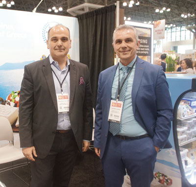 Summer Fancy Food Show 2018: Epiros Feta, Prospect IL/Bonita Springs FL: Charalampos Vasileiadis and George Lazaris, General Manager.