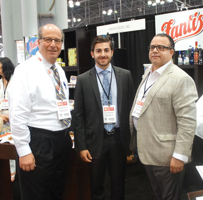 Summer Fancy Food Show 2018: Fantis Foods: Zach Morfogen Sales Manager, George Makris son of Gerry Makris CFO, and Steve Makris COO.