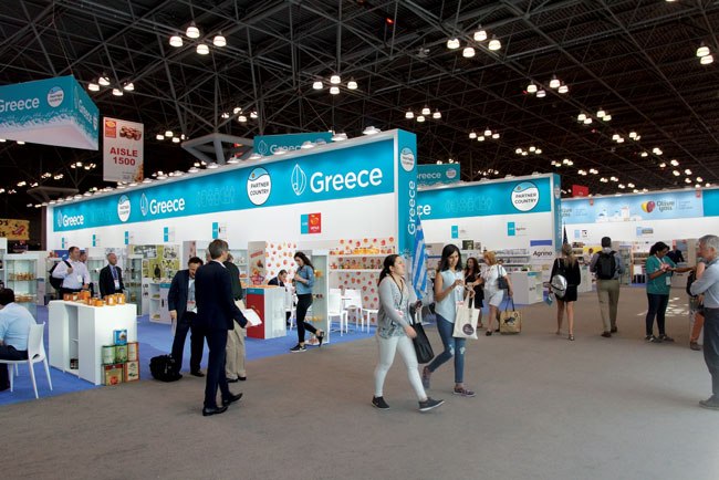 Summer Fancy Food Show 2018, Greek Pavilion.