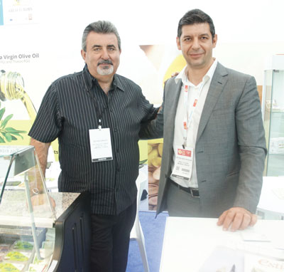 Summer Fancy Food Show 2018: Great Flavors, Magnisia, Greece: Kostas Tyras from Food Fest (Bronx, NY) and Spyros Nastopoulos.