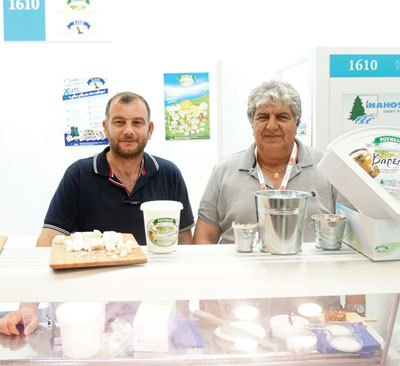 Summer Fancy Food Show 2018: Inahos SA, Grammeni Makrakomi, Greece: Konstantinos Dimoulas Export Manager, and Spyridon Mpardis from Boboris Foods, Representative of Inahos.