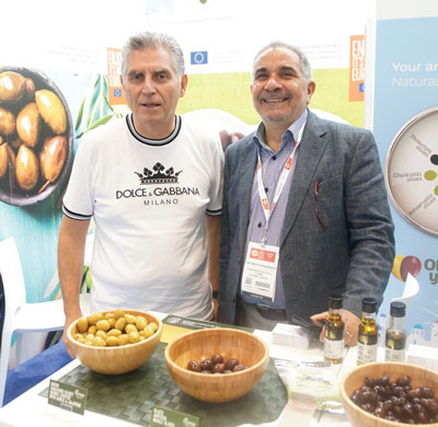 Summer Fancy Food Show 2018: Konstantopoulos SA, Katerini, Greece: Prokopios Konstantopoulos Owner, and Antonios Sfakianakis.