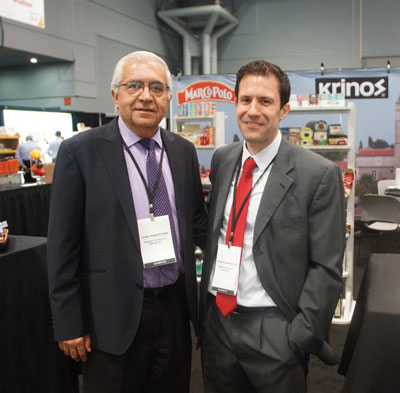 Summer Fancy Food Show 2018: Krinos Foods: John Tramontana Manager & Operations, and Thanassis Matsiotas Sales Manager.