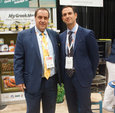 Summer Fancy Food Show 2018: Loumidis Foods, Lyndhurst, NJ: Vlasis Anastasiou Sales Manager, and Jason Loumidis, Executive Manager.