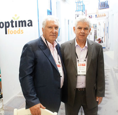 Summer Fancy Food Show 2018: Optima Foods, Deer Park, NY: Kostas Mastoras Chairman, and James Hronis VP, partner.